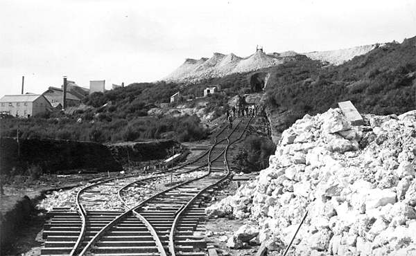 Incline on Union Hill, showing the portal of the tunnel which took ore from the New Shaft.