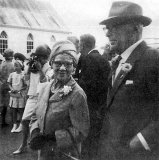 Mr and Mrs Silcock of Paeroa at family wedding - 1969.
