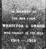 Wharepoa War Memorial detail