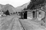 Karangahake railway station, looking south, 1950
