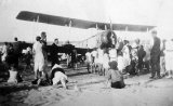 Walsh Bros'. Avro 504K bi-plane at Waihi Beach