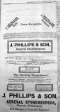 Advert from one of the major firms in Paeroa in 1893.