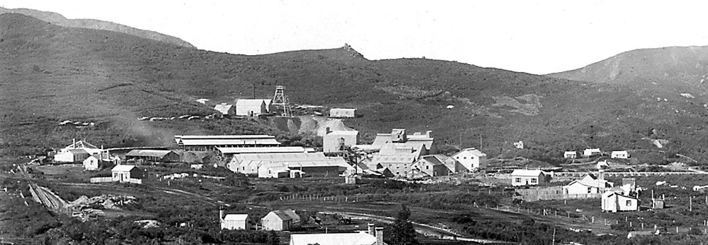The Waihi Mill as seen from the No.1 Shaft on Martha Hill.